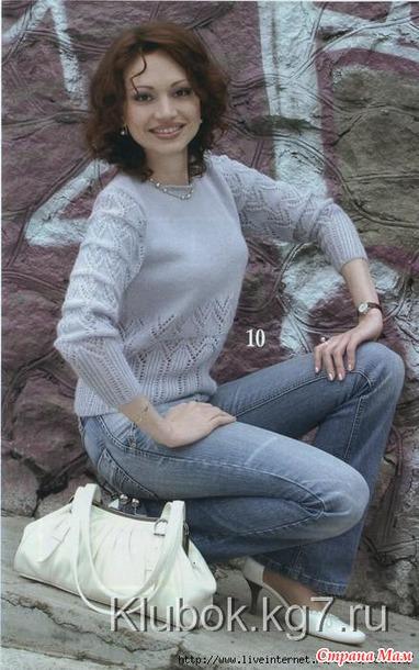 Красивые женские свитера и кардиганы спицами