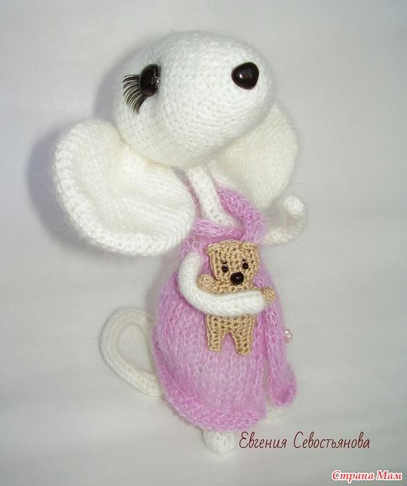 Вязание игрушки мышки крючком