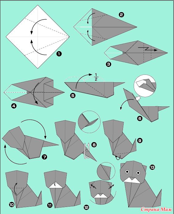 Инструкция как из бумаги сделать кота из