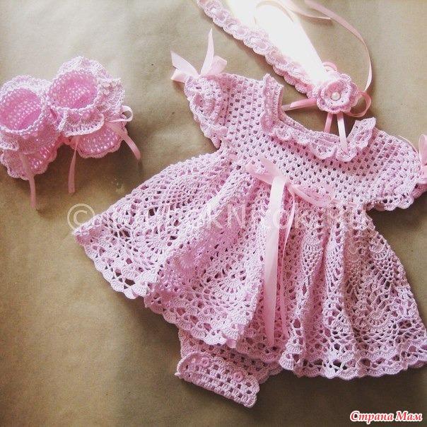 Нежное платье-боди для маленькой девочки.