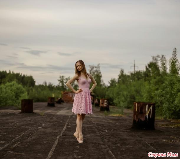 """Платье """"Магнолия"""" крючком"""