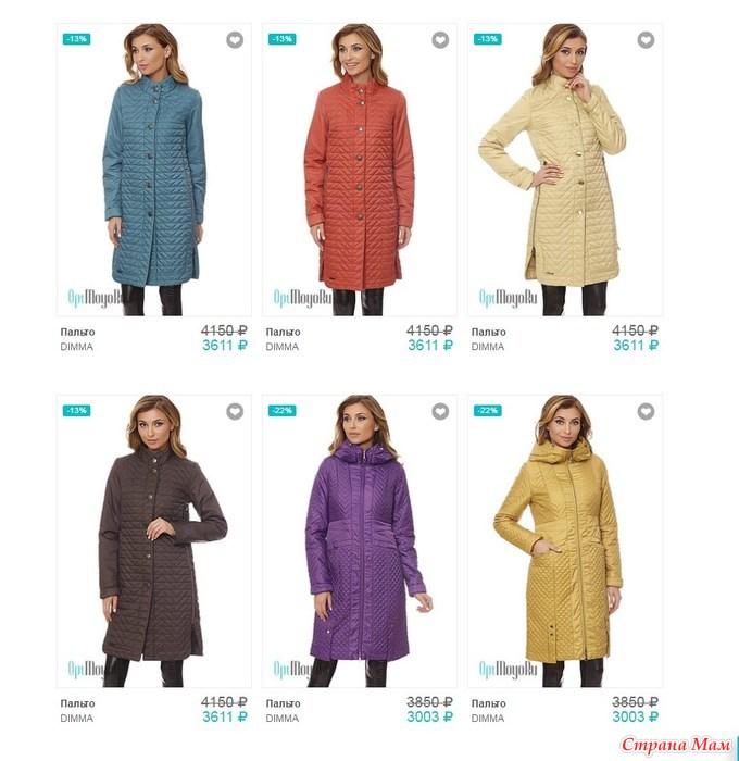 Размеры Пальто