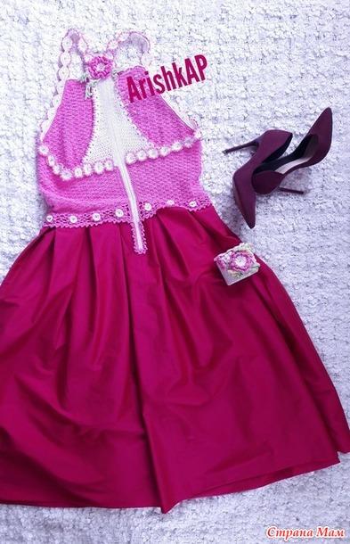 Платье розовое счастье