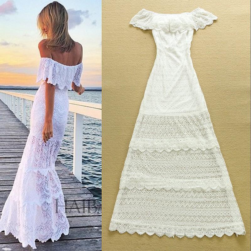 Белое летние платье