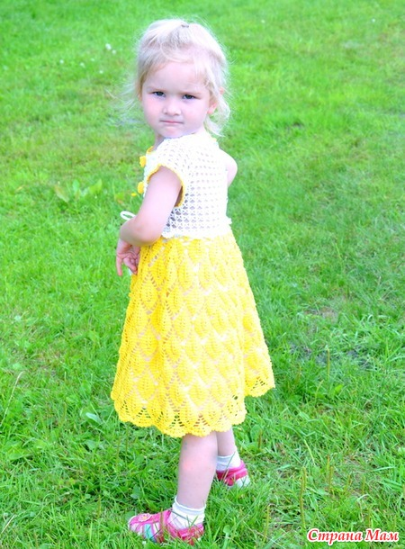 Вязание крючком платье солнце 71