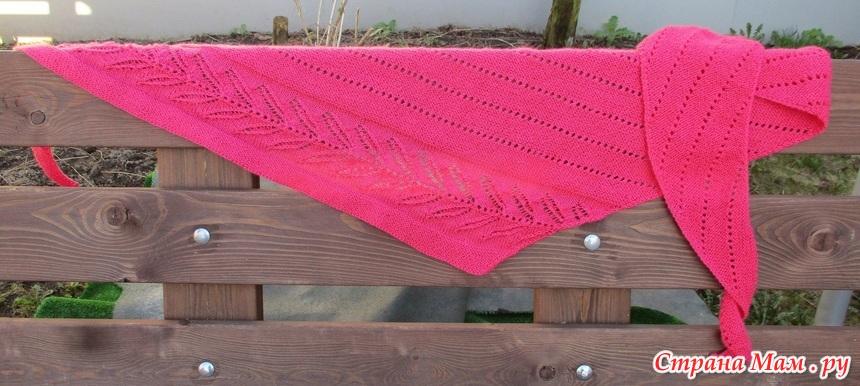 из какой пряжи лучше вязать шаль