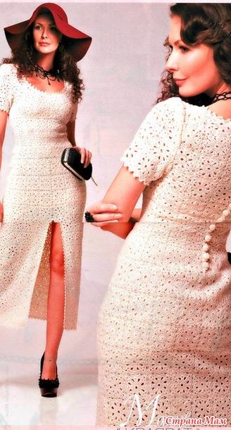 Квадрат и силуэт. Стильное белое платье.