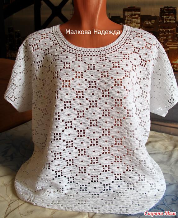 钩针T恤(两种领型) - maomao - 我随心动