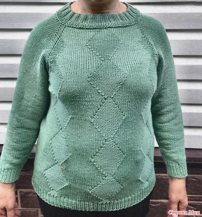 Меланжевый Пуловер Реглан