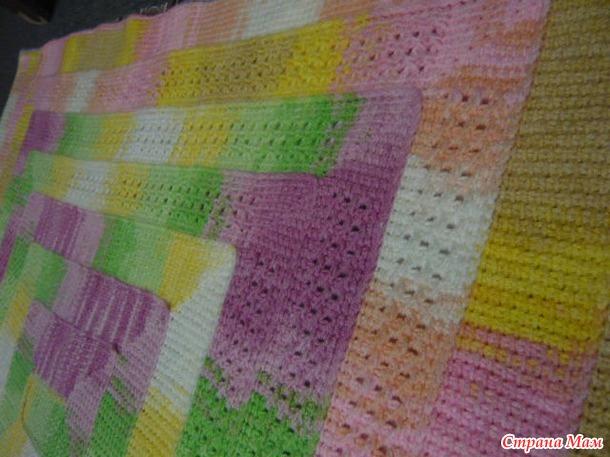 Вязание плед на 10 петлях 61