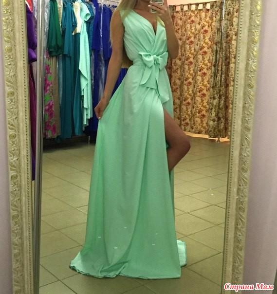 Фото платье с запахом в пол