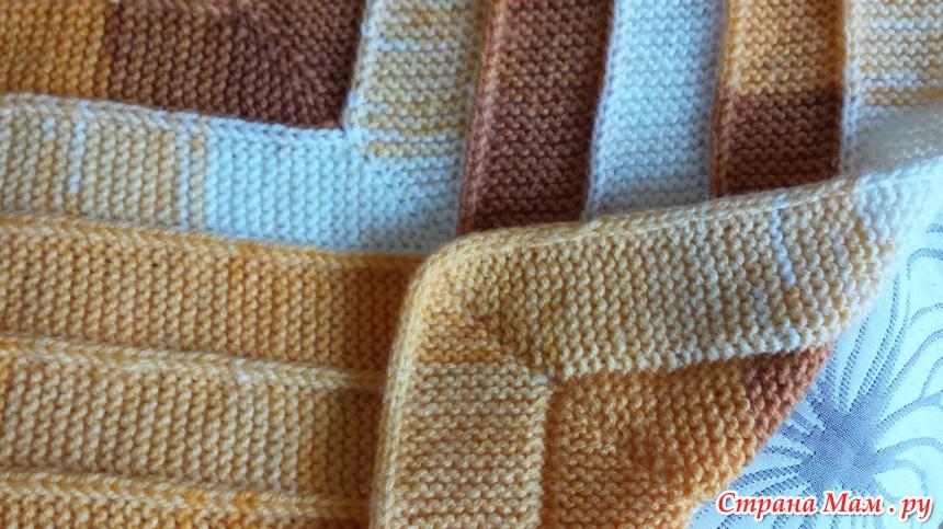 Вязание плед на 10 петлях 12
