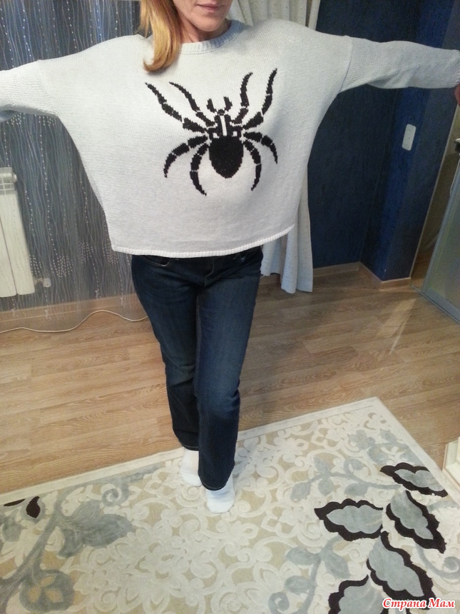 """提花""""蜘蛛""""套衫 - maomao - 我随心动"""