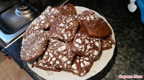 шоколадно-кофейное печенье с корицей процессе этого можно
