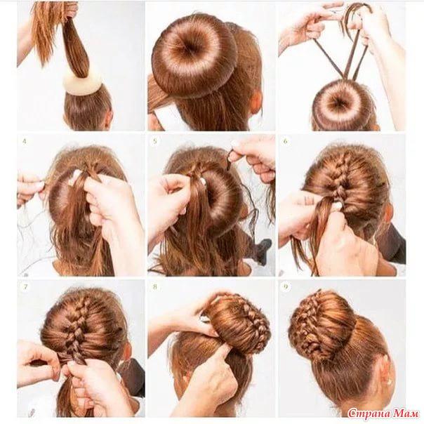 Прически детские на длинные волосы в домашних условиях своими руками
