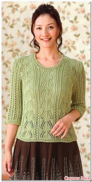 Узорчатый Пуловер