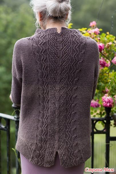 Вязание спицами пуловера с узором на спине Tevara  by Paula Pereira