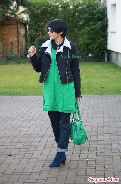 Туника зеленого цвета