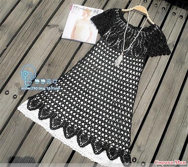 . Черная жемчужина. Нарядное ажурное платье.
