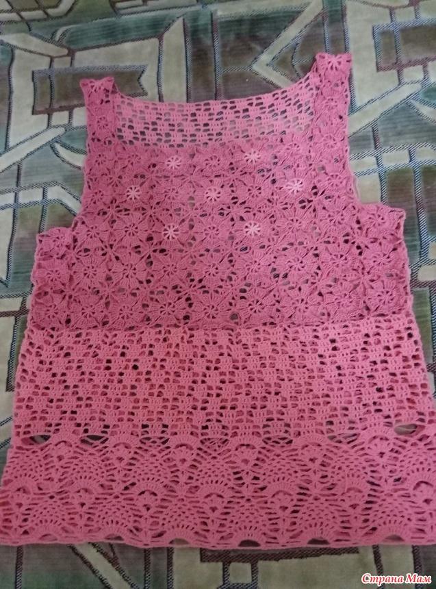 Вязание маек крючком размер 48