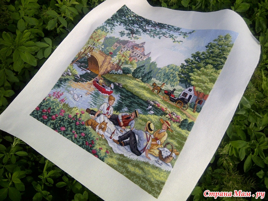 Dimensions вышивка пикник