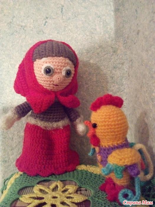 «Курочка Ряба» пальчиковый кукольный театр крючком своими руками
