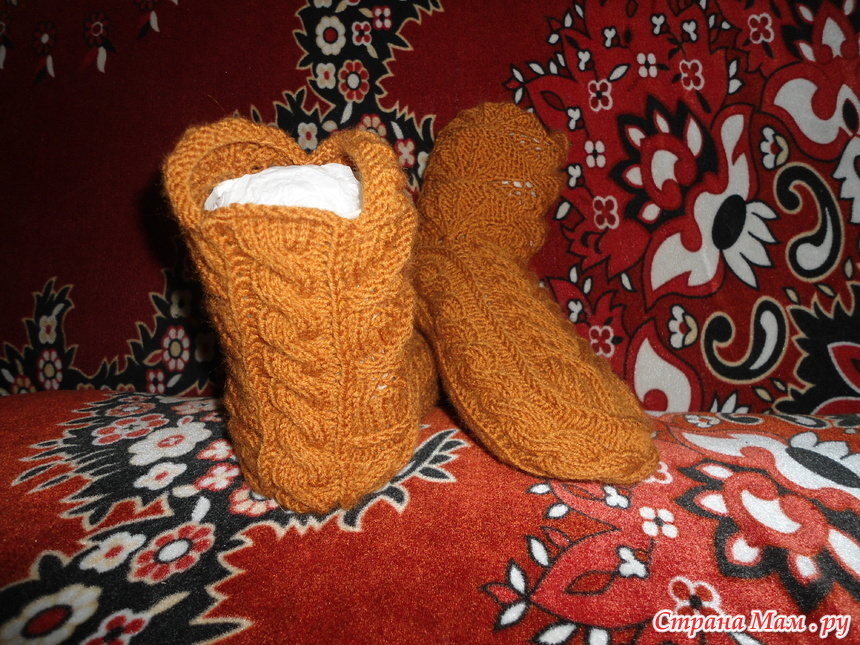 Вязание носков как сапожки 880