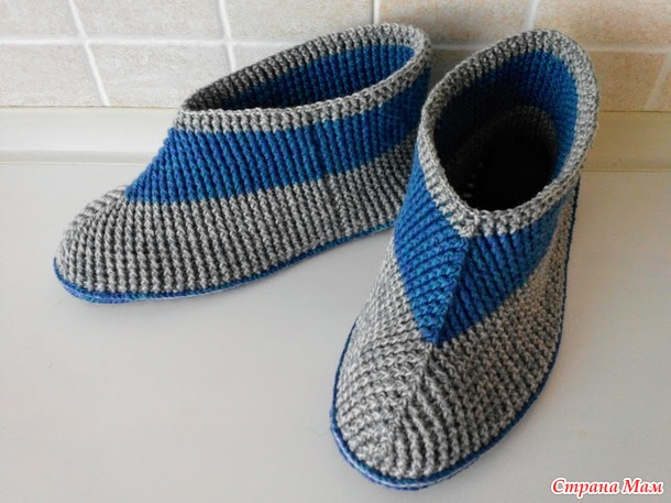 . Тапочки на войлочной подошве - Вязание - Страна Мам