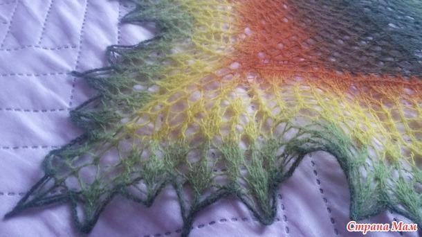 "Осенний бал для ""Золушки""))) Моя новая шаль."