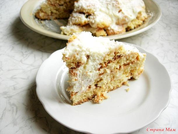 рецепт торт снежная горка