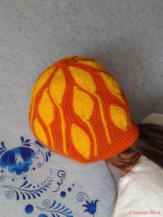 """针织帽子""""落叶"""" - maomao - 我随心动"""