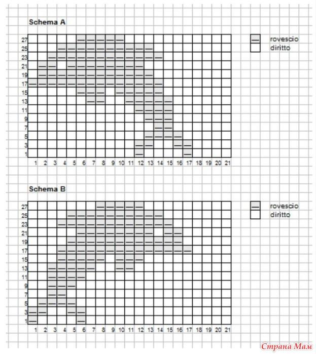 Теневые рисунки вязание спицами 14