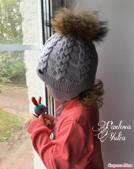 Связать шапку с подкладом спицами