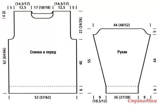 Вязание спицами схемы 52 размер