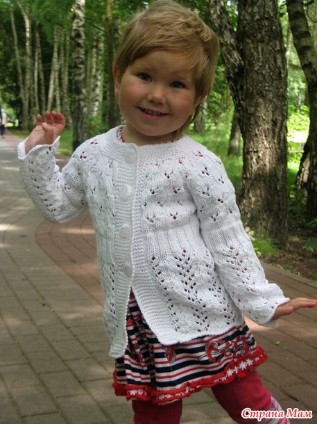 . 2 белоснежных ажурных кардигана в стиле FAMILY LOOK - для мамы и дочки... а еще - неожиданный замечательный подарочек!!!