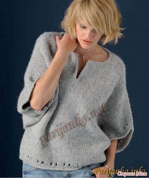 Пуловер-кимоно