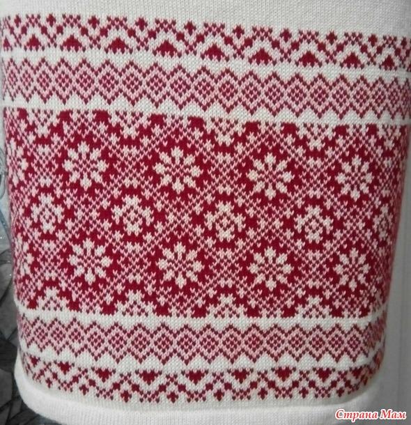 . Платье-вышиванка вязаное