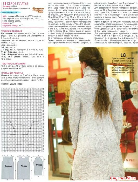 Вязание на спицах платьев журнал