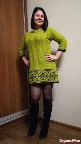 . Платье-туника с жаккардом