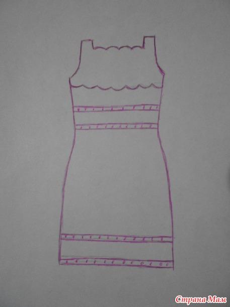 Платье крючком. Вяжем онлайн.
