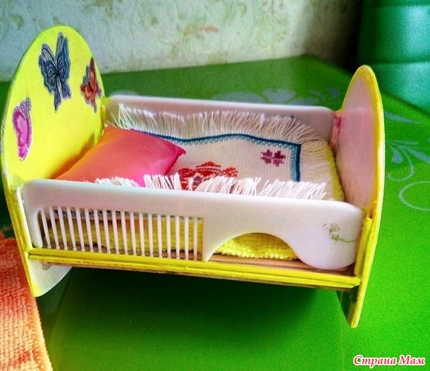 Кроватка для  маленькой куклы