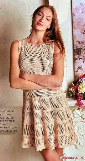 . Минимум деталей максимум стиля. Летнее кремовое платье.
