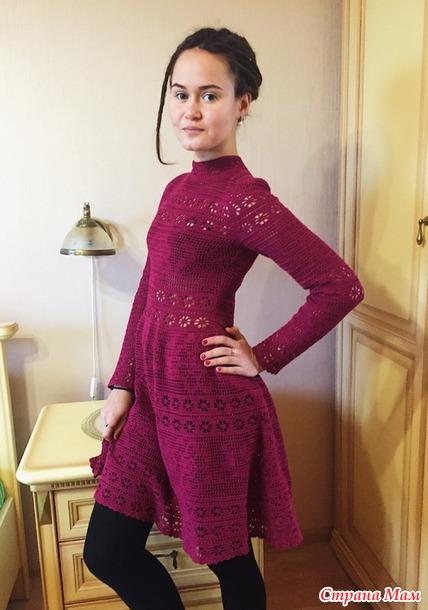 . Платье филейное кружево