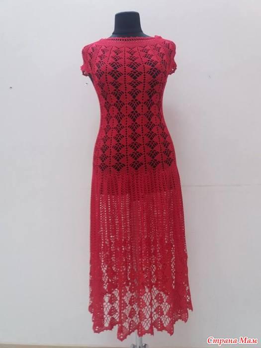 Вяжем платье по мотивам платья кайли миноуг 139