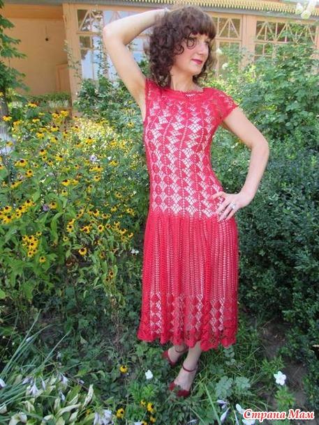 Вяжем платье по мотивам платья кайли миноуг 74