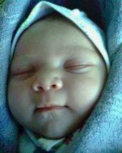 40 минут после родов!!! Самая первая фотография.