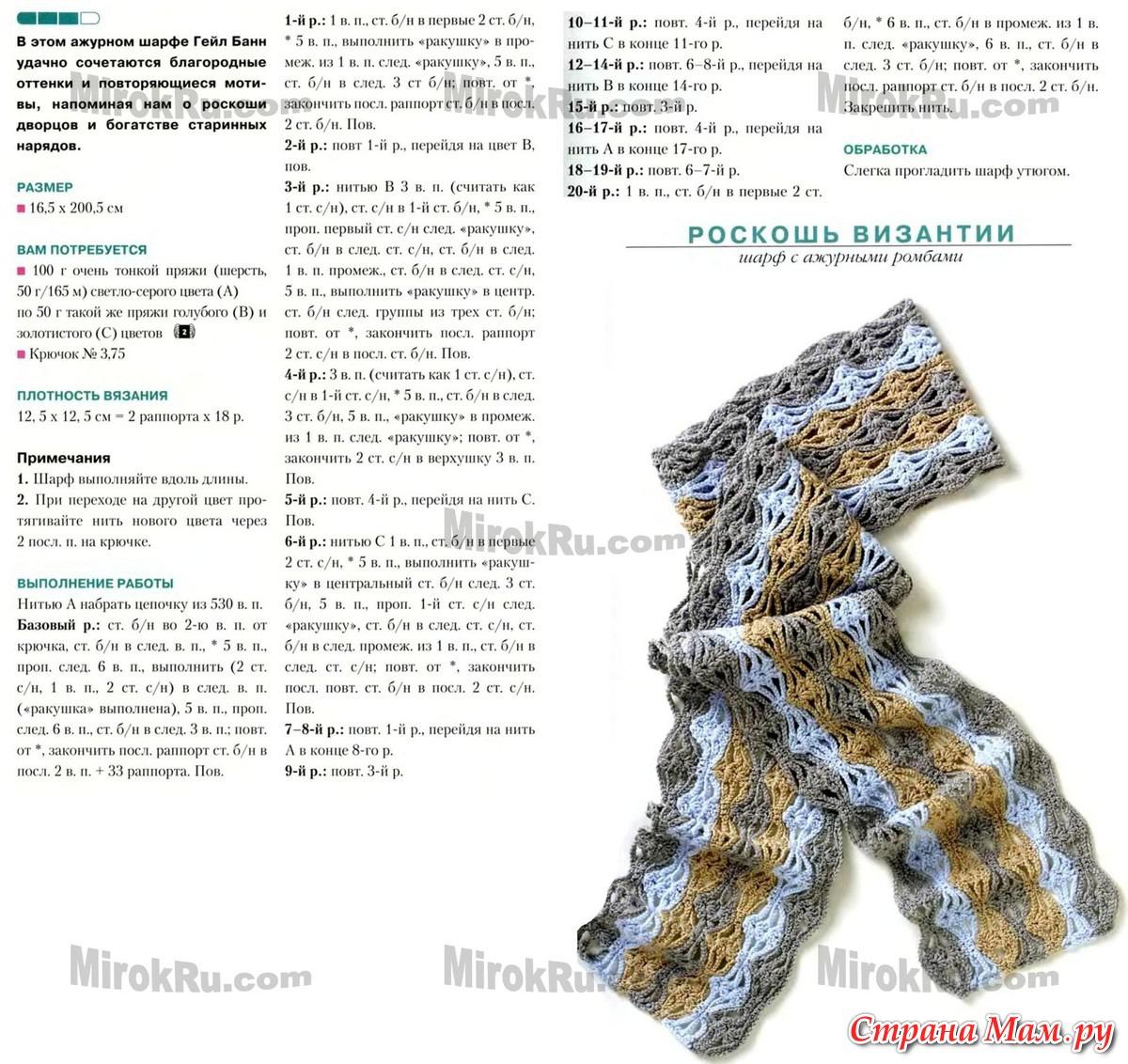 мужской шарф крючком схема с описанием фото лицами человеческими, резиновые