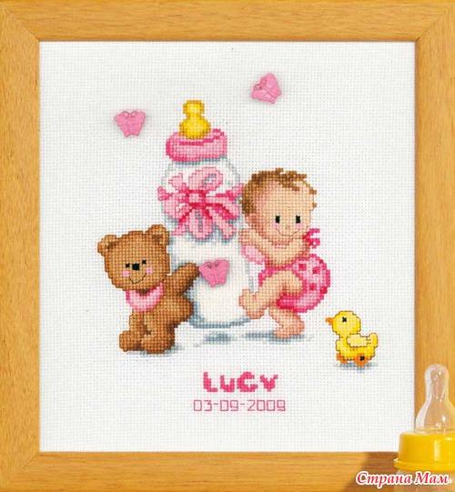 Схемы вышивки крестом соски для новорожденных