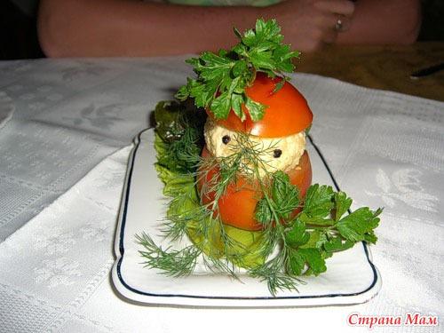 Фаршированые помидоры