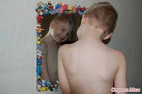 Детское зеркало из киндеров!!!